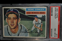 1956 Topps - #17 - Gene Conley - PSA 8 - NM-MT