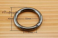 Spring Gate O Ring Snap Clip Trigger alloying metal gunmetal 1 1/4 inch U162