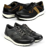 Mens Lace Up Trainers Sneakers Casual Fashion Leather Gym Running Shoes Size UK