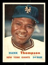 HANK THOMPSON 57 TOPPS 1957 NO 109 NRMINT+ 21488