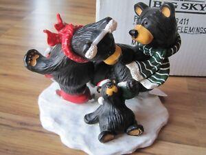 "Big Sky Carvers BearFoots Bears #50411 ""SKATING FLEMINGS"" New --Older stockCabin"