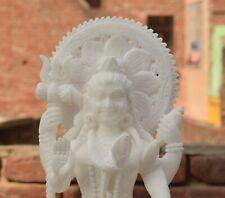 "11"" Handmade Stone Lord Shiva Mahadev White Statue Antique Craftmanship polished"