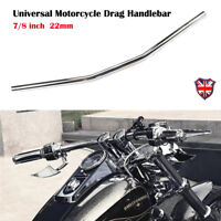 "7/8"" inch Motorcycle Drag Handlebar Bar Chrome For Harley Honda Yamaha Universal"