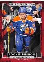2015-16 Upper Deck Portfolio #250 Connor McDavid RC Rookie Edmonton Oilers