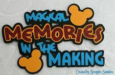 DISNEY MEMORIES IN THE MAKING - Die Cut Title - Paper Piece for Pages - SSFFDeb