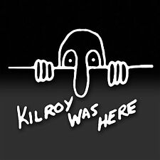 Kilroy Was Here. WWII icon, Military Marines Army America Vinyl Window Sticker