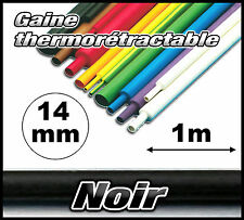GN14-1# gaine thermorétractable noir 14mm 1m  gaine thermo noir
