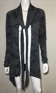 MESOP grey print tie mesh jacket cardigan ~  Size 1 / 8-10