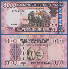 Ruanda/kinyarwanda 5000 francos 2004 UNC p. 33