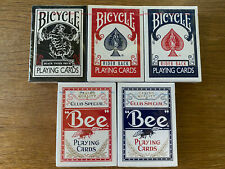 Bicycle / Bee Playing Cards - Set of 5 - Black Tiger, Rider Back, Club Special