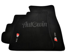 Audi S5 Coupe 2008-2015 Black Floor Mats With Sline Logo With Clips LHD Side NEW