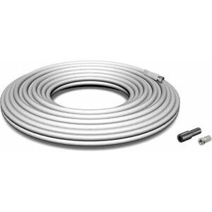 HDSAT KIT Câble Coaxial 20M avec Fiches F et Manchon - tnt tv satellite bobine 2