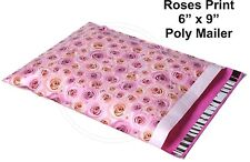 New listing (30) Roses Flower Print 6 x 9 Flat Poly Mailers Shipping Package Envelopes Bags