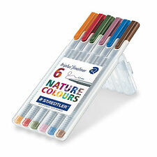 STAEDTLER Triplus fineliner 334 SB6CS2 assorted 6 Nature colors Set