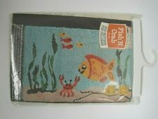 """New listing Aunt Lydia's """"Fish 'N Crab"""" Punch Rug Pattern for Children #103 Vintage Usa"""