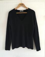 De ensueño 100% cachemir Cashmere suéter de Johnstons Of Elgin negro talla m
