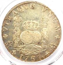 1767-MO MF Mexico Pillar Dollar 8 Reales Coin (8R) Chop Marks - PCGS AU Details!