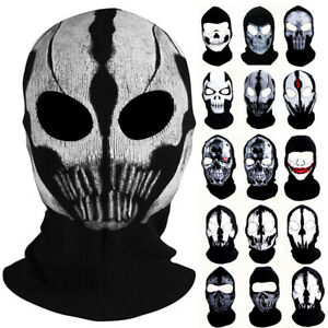 Hunting Balaclava Army Military SWAT Gear Ghost Print Face Mask Windproof Hood