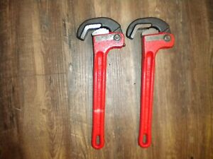 "2 Ridgid H.D.10"" "" Rapidgrip Pipe Wrenches,  **MINT**"