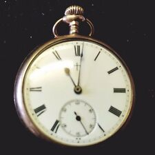 Vintage gold plated pocket watch, good working order but with loose glass