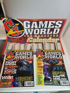 Games World Magazine Issue 1 and 2 plus 1995 Poster