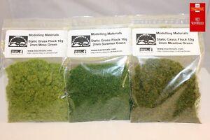 Static Grass 2mm Green Multipack Moss Meadow Summer  - First Class Postage