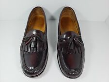 Cole Haan Pinch Shawl Bow C02692 Tassel Shoes Men's 13 D Red Brown
