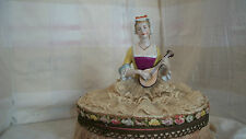 Original antique German half doll pin cushion doll  Candy Container excellent