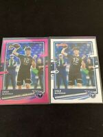 2020 DONRUSS FOOTBALL COLE MCDONALD PINK OPTIC ROOKIE + DONRUSS ROOKIE TITANS