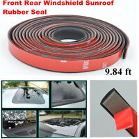 9.84ft Sealed Strips Trim Moulding Car Windshield Sunroof Triangular Window Seal