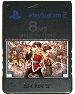 SUIKODEN 1 2 3 4 5   MEMORY CARD SAVES   PSX PS2 II III IV V   roll into sequels
