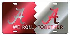 """UNIVERSITY OF ALABAMA CRIMSON TIDE """"We Roll Together"""" License Plate / Car Tag"""
