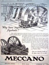 1934 'MECCANO' Construction Kits ADVERT (Engine Flywheel) - Original Print AD
