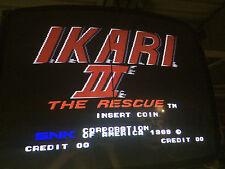 IKARI WARRIORS 3 THE RESCUE SNK Guaranteed Working jamma Board arcade PCB #2722
