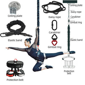 Pro Yoga Aerial Gravity Bungee Dance Pilates Fitness Gym Training Band Belt Rope