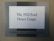 Franklin Mint Paperwork 1932 Ford Deuce Coupe