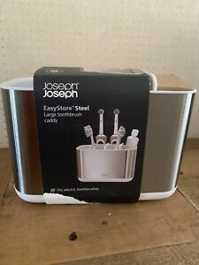 Joseph Joseph EasyStore™ Toothbrush Caddy, Large, Stainless Steel