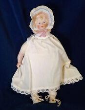 Antique Repro Bonnet Head Bisque Child Doll Artist Doll Gorgeous Head Cloth Body