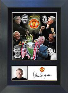 ALEX FERGUSON Man Utd Signed Mounted Reproduction Autograph Photo Prints A4 343