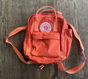 FJALLRAVEN Kanken Mini Backpack Orange Great Used Condition