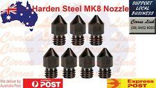 3D Printer Upgrade Parts 1.75mm Hardened Steel nozzle MK7 MK8 0.2/0.3/0.4/0.5mm