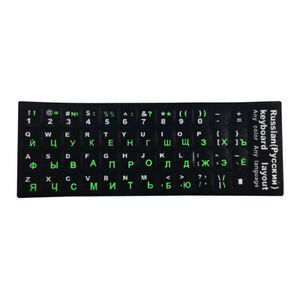 Russian Keyboard Stickers Suitable For Laptops PC Keyboard Stickers Black+Green