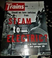 Trains Magazine April 1962 Issue