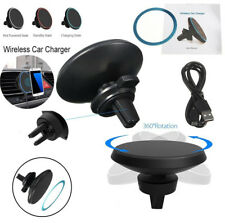 360° Qi Wireless Car Charger Magnetic Mount Holder iPhone X/8 Samsung S8 Note 8