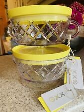 PHILIPPE STARCK for TARGET PLASTIC SNACK BOWL w YELLOW LID SET OF 2 FREE SHIP