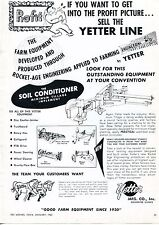 1962 Dealer Print Ad of Yetter Mfg Co Soil Conditioner Tiller Tractor Implement