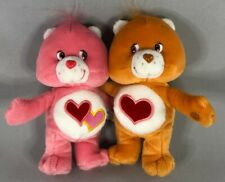 """2002 Care Bears Hugging Tenderheart and Love-A-Lot Plush Toy 7"""""""