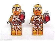 Handmade, LEGO®  Star Wars Camo-Trooper Transparent Cufflinks, Gift Boxed!