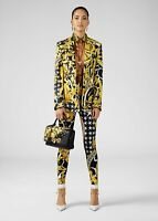 VERSACE 995$ High Waist Trousers In Multi Color Signature Savage Barocco Print