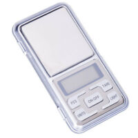 Mini Pocket Black Gram Balance Weight Scale 500g x 0.01g Digital Jewelry